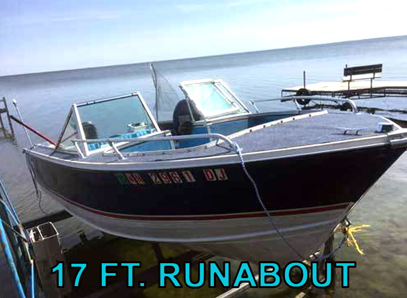 17 ft. Runabout Boat Rental on Mille Lacs Lake Recreational Rentals at Randy's Rentals