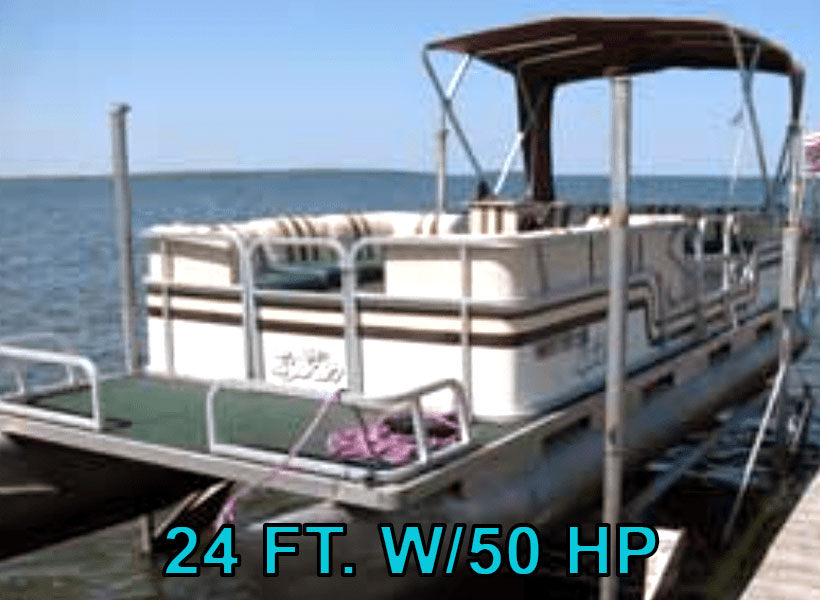 24 ft. w/50 hp Pontoon Boat Rental on Mille Lacs Lake Recreational Rentals at Randy's Rentals